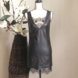 Chelsea & Violet Faux Leather Dress